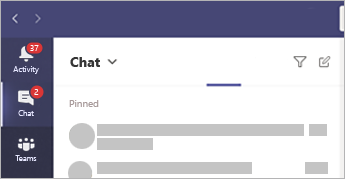 A view of the chat window in Teams.