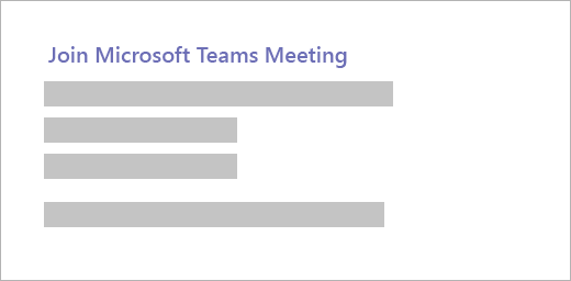 An example of a Microsoft Teams meeting invitation.