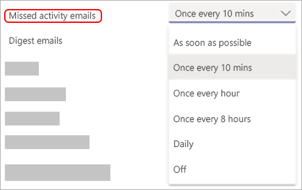 An example of missed activity emails.